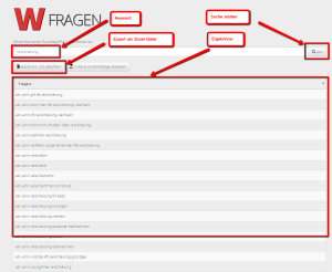 W-Fragen-Tool Screenshot
